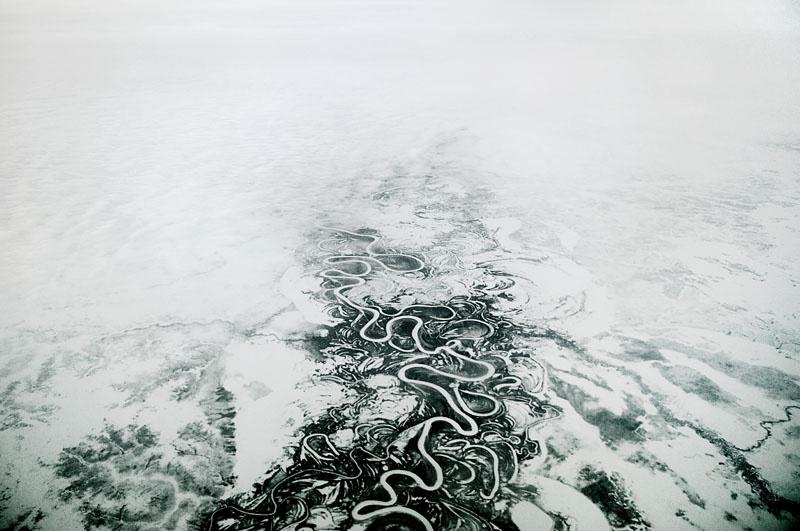 Jelena Csernyisova díjnyertes fotója a befagyott Jenyiszej folyóról / Forrás: Gulag.org