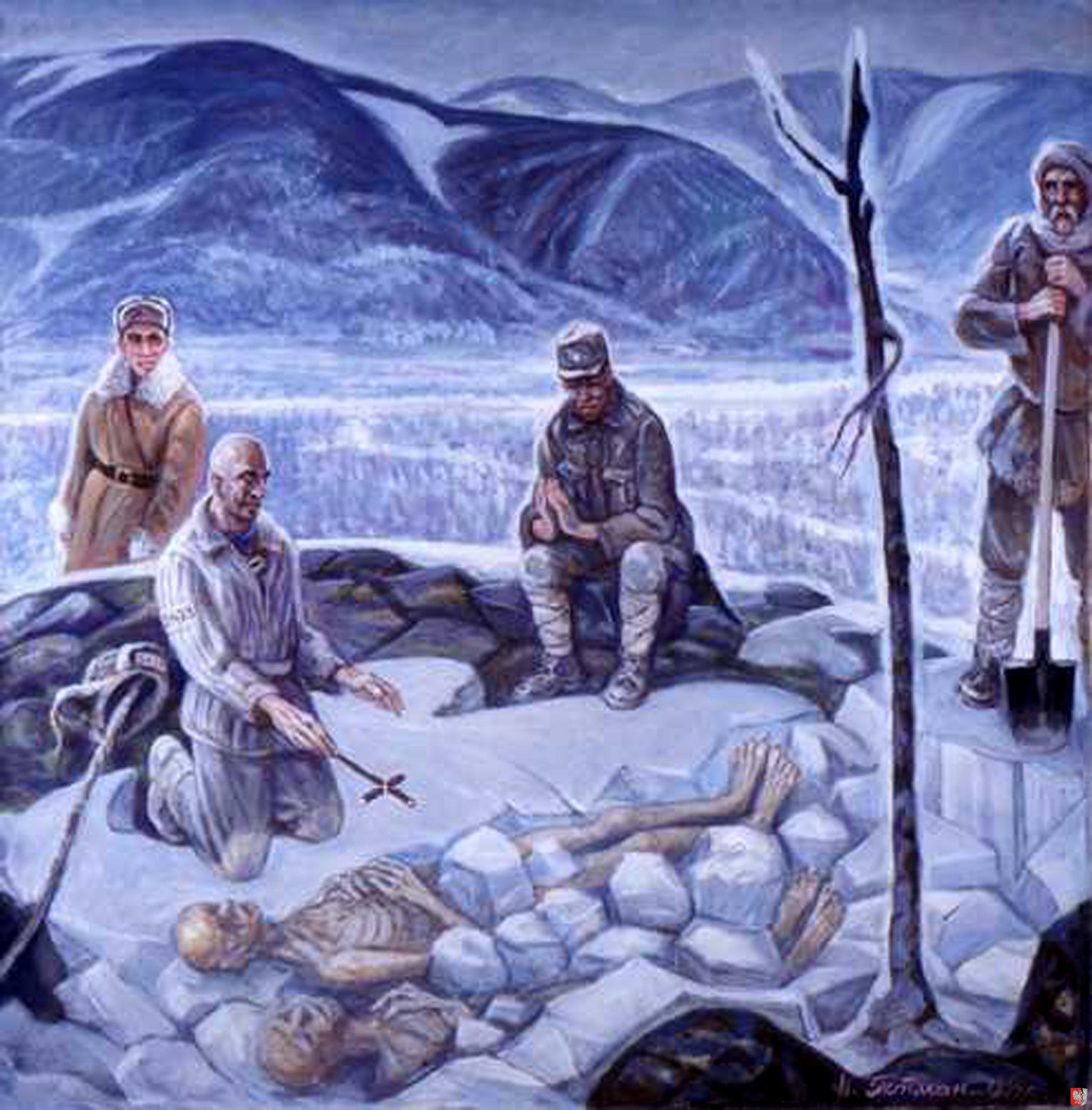 Nikolaj Getman gulágos festőművész egyik műve, a festő idén hunyt el / Fotó: Gulag.org