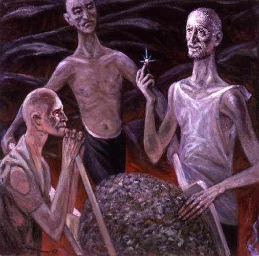 Gyémánt az éjszakában, a Gulag-túlélő Nikoláj Getman festménye / Forrás: Gulag.orglag-túlélő Nikoláj Getman festménye / Forrás: Gulag.org