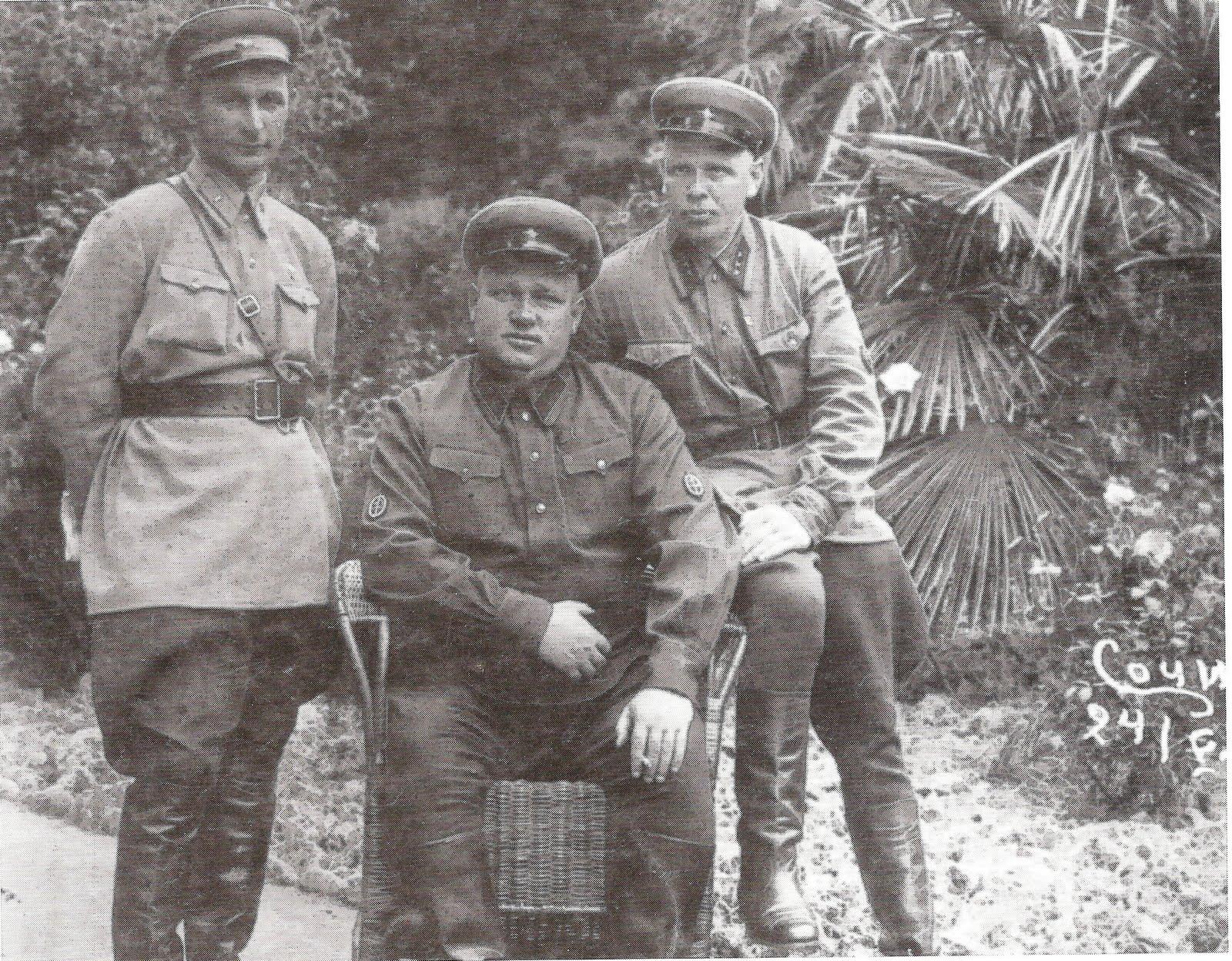 Három NKVD-népbiztos /Fotó: Collectingsoviethistory.com